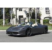 Matte Grey Ferrari 458 Spider Is All Kinds Of Nah  Carscoops