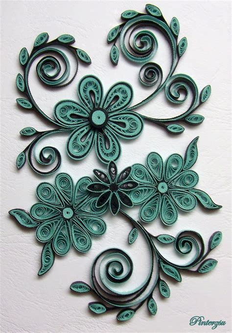 flower pattern for quilling quilled flowers by pinterzsu on deviantart