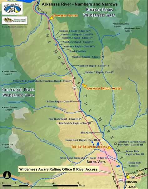 us map with arkansas river arkansas river numbers and narrows sections colorado