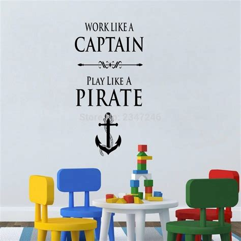 creative anchor quotes wall decal work like a captain play