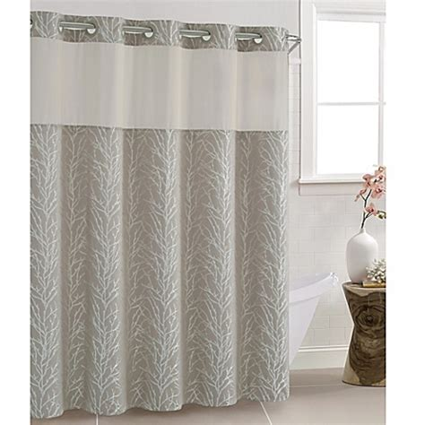 hookless fabric shower curtain with snap liner hookless fabric shower curtain with snap liner pmcshop