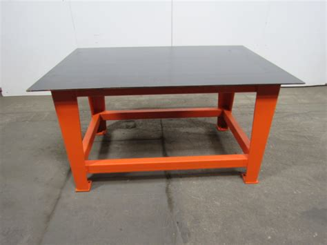welding bench top steel welding work bench assembly layout table 60 quot x40 quot 3 8