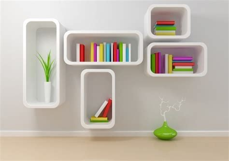 Rak Buku Gantung Modern ツ 50 model lemari rak buku gantung minimalis modern