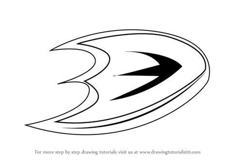 anaheim ducks coloring pages learn how to draw anaheim ducks logo nhl step by step