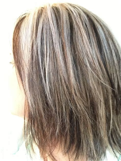 highlights for gray hair photos blending in grey in brown hair yahoo image search