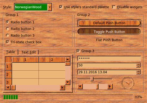 basic layout exle qt styles exle qt widgets 5 10