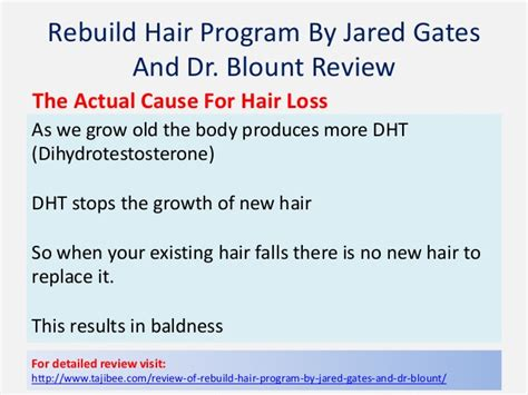 dr blount hairloss fraud dht program jared gates newhairstylesformen2014 com