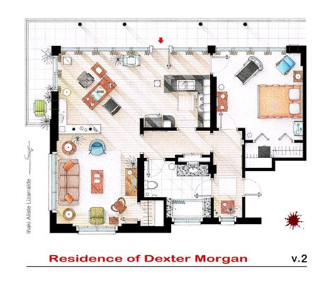 layout of seinfeld apartment 10 floor plans of popular tv show apartments