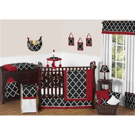 red and black crib bedding trellis red and black crib bedding collection