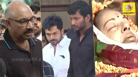 actor goundamani funeral nadigar sangam s emotional homage at jayalalitha s funeral