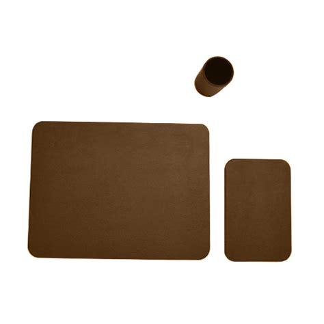 Faux Leather Desk Accessories 3 Faux Leather Desk Set Prestige Office Accessories