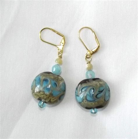 handmade beaded earrings artisan jewelry lwork glass