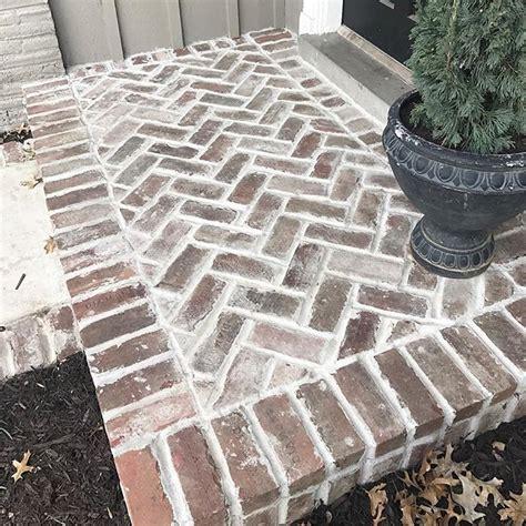 herringbone reclaimed brick pavers mindfully gray blog