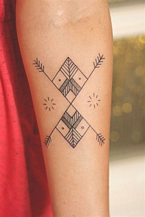 minimalist geometric tattoos 40 aztec designs for and