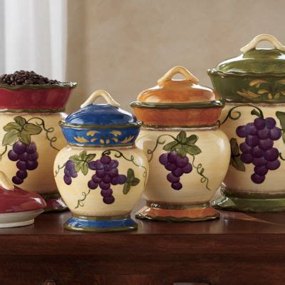 grape kitchen canisters 4 piece grape canister set from country door 73461