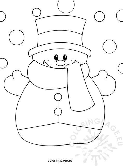 winter coloring page snowman coloring page