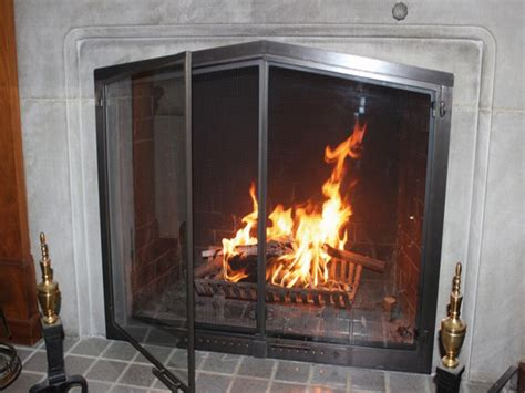 glass front fireplace doors add to any fireplace glass fireplace screens with