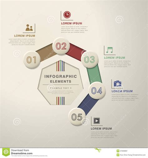 abstract flow chart infographics royalty free stock