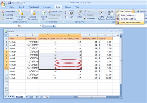 excel 2007 format data validation input message box create validation rules validation 171 data analysis