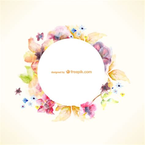 watercolor floral pattern vector free download watercolor floral wreath vector free download