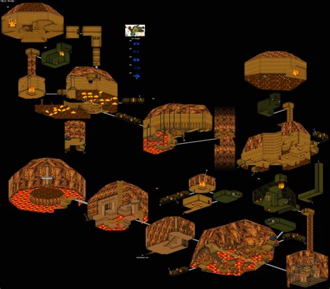 legend of zelda oot map a 3d map of the fire temple from ocarina of time gaming