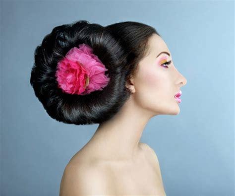 girl hairstyles bun flower bun hairstyle astounding girl hairstyles
