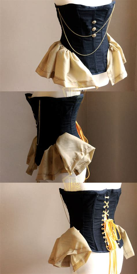 Handmade Corset - handmade steunk steel bones corset by pendorabox on