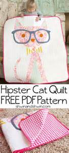 Home Decor Sewing Blogs Hipster Cat Quilt Free Pattern Shwin Amp Shwin