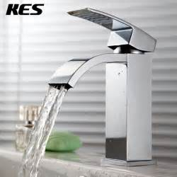 kes l3109a single handle waterfall bathroom vanity sink