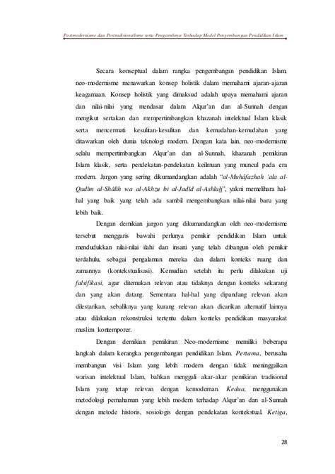 Dari New Modernism Kw Islam Liberal Prof Dr Abd Ala post modernisme post tradisionalisme
