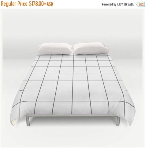 Grid Bed Sheets by On Sale Duvet Cover Grid Bedding Black And White Bedding