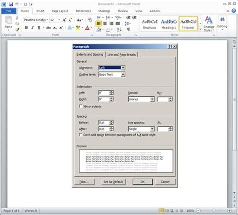 word layout default change other layout defaults in word 15 essential