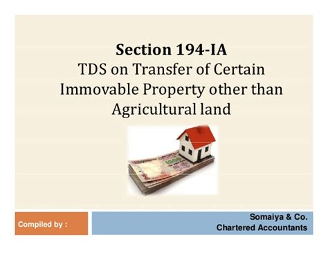 section of tds tds on transfer of immovable property 194ia
