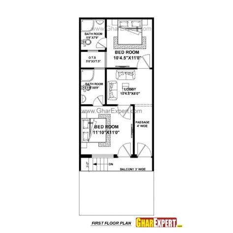50 yards house plan stunning house plan for 17 feet 45 feet plot plot size 85 square yards 15by 50 home