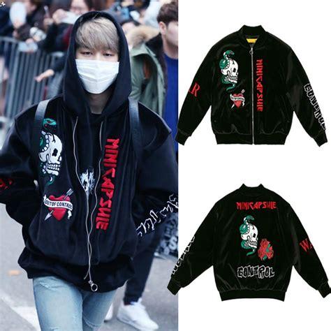 Custom Kpop Bts 9 kpop bts jimin velvet embroidery padded coat bangtan boys