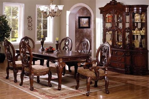 The elegant traditional Tuscany dining table set is the perfect   Dining Room Ideas
