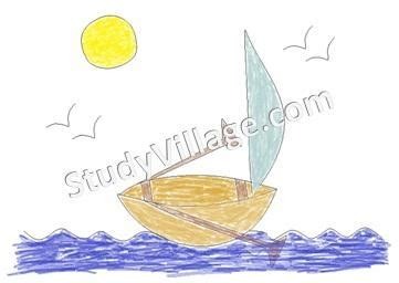how to draw a scenery boat in river how to draw a boat printable instructions of how to draw