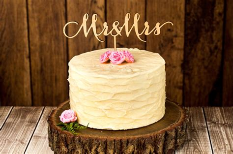 Hochzeitstorte Undone by Hello May 183 Better Wed Rustic Cake Toppers