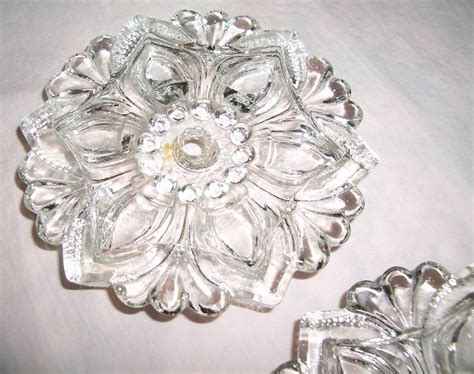 antique glass curtain tie backs pair clear pattern glass curtain tie backs vintage flower