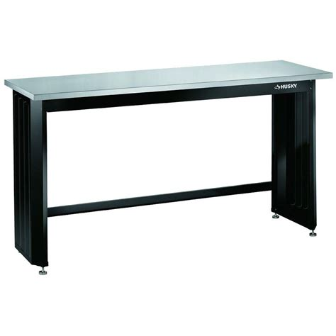 stainless steel bench top workbenches husky work benches 6 ft stainless steel top