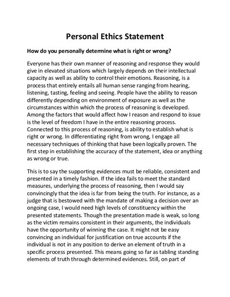 Ethics Essay Exle by Ethics Term Paper Exles
