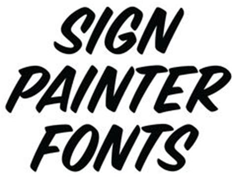 sign painter house script painters signs and fonts on pinterest