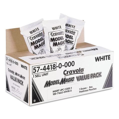 Model Magic Favors by Crayola Model Magic Modeling Compound 8 Oz White 6 Lbs