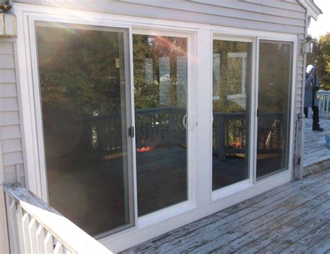 Patio Door Glass Repair Sliding Glass Patio Door Replacement Scituate Ma Winstal