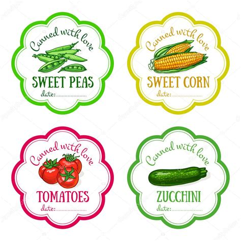 printable vegetable stickers set of vector labels with hand drawn vegetable templates
