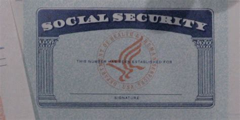 social security card template psd professional sles