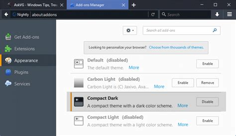 black themes for mozilla firefox nightly update firefox 56 0 comes with new activity