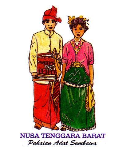 label stiker pakaian adat  indonesia