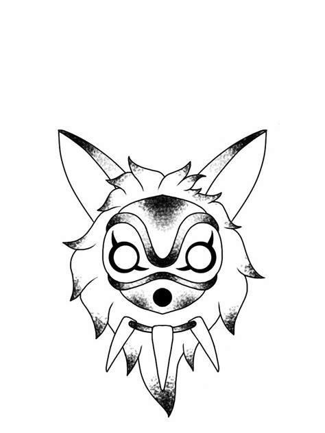 princess tattoo designs princess mononoke mask flash design by nico di