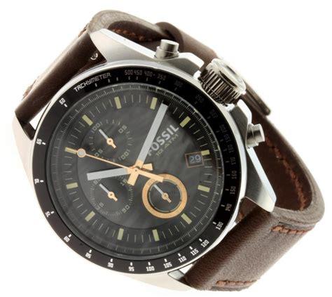 fossil uhr decker fossil uhr decker herren chronograph leder braun ch2885